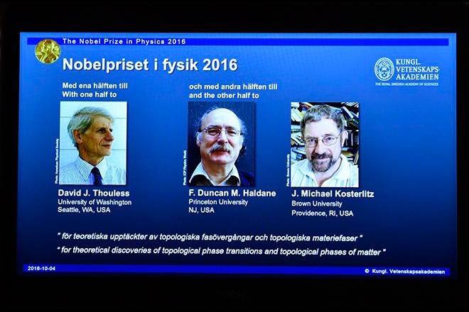 Νόμπελ Φυσικής σε τρεις ερευνητές της εξωτικής ύλης