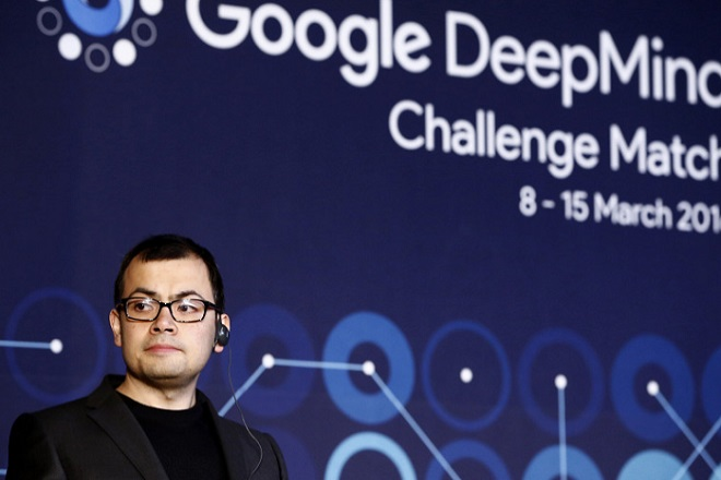 SEOUL, SOUTH KOREA - MARCH 15:  Demis Hassabis, co-founder of Google's artificial intelligence (AI) startup DeepMind. speaks during a press conference after finishing the final match of the Google DeepMind Challenge Match against Google's artificial intelligence program, AlphaGo, on March 15, 2016 in Seoul, South Korea. Lee Se-dol is playing a five-match series against a computer program developed by a Google, AlphaGo.  (Photo by Jeon Heon-Kyun-Pool/Getty Images)