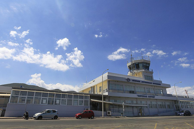 epa04888144 An exterior view of Mytilene airport Odysseus Elyitis, in the island of Lesvos, estern Greece, 18 August 2015. German company Fraport, the operator of Frankfurt airport, on 18 August 2015 was officially given permission to operate 14 regional airports in Greece, mostly in tourist locations. The move comes within the scope of a privatisation wave demanded by creditors to tackle the Greece debt crisis.  EPA/ORESTIS PANAGIOTOU
