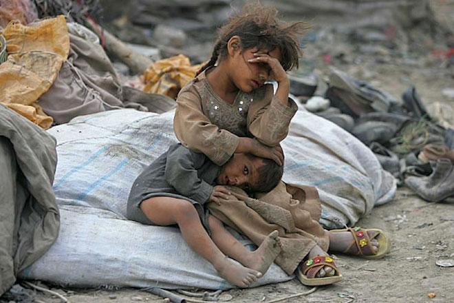war, poor child