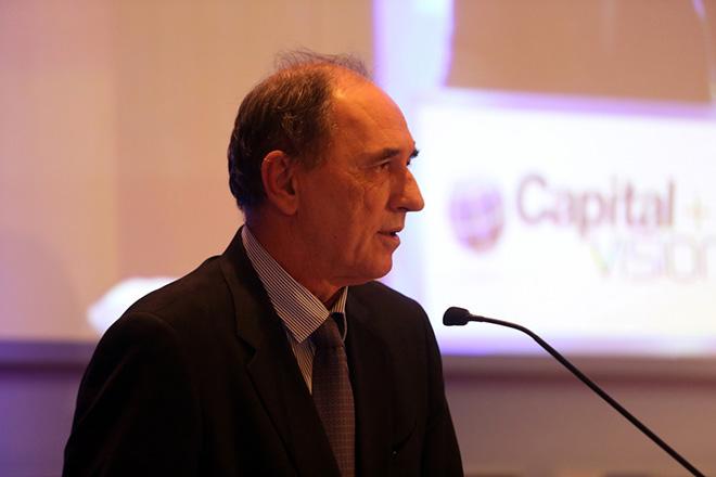 Ο υπουργός Οικονομίας, Ανάπτυξης και Τουρισμού, Γιώργος Σταθάκης, μιλάει στο συνέδριο Capital + Vision  2016 με θέμα : Ανάπτυξη και Επενδύσεις - Δημιουργώντας Προοπτικές για την Ελληνική Οικονομία, Σάββατο 22 Οκτωβρίου 2016. ΑΠΕ-ΜΠΕ/ΑΠΕ-ΜΠΕ/Αλέξανδρος Μπελτές