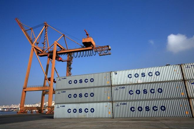 Η Cosco έφερε αύξηση 6,4% στη διακίνηση των containers στον Πειραιά