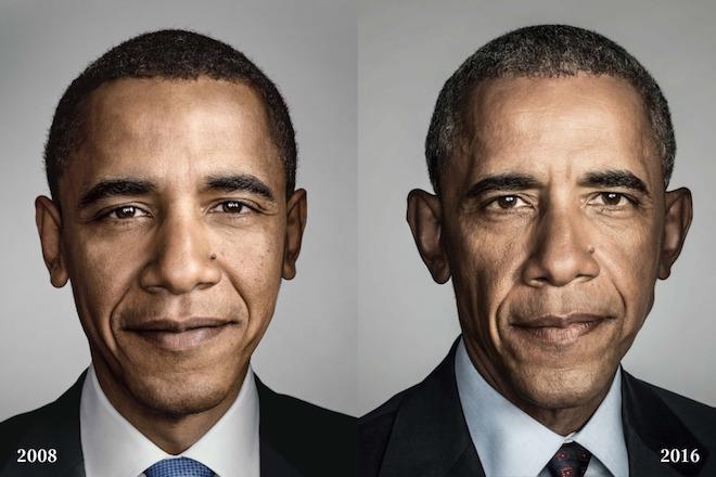 Φωτογραφικά ντοκουμέντα: Πόσο άλλαξε ο Μπαράκ Ομπάμα στα χρόνια της θητείας του