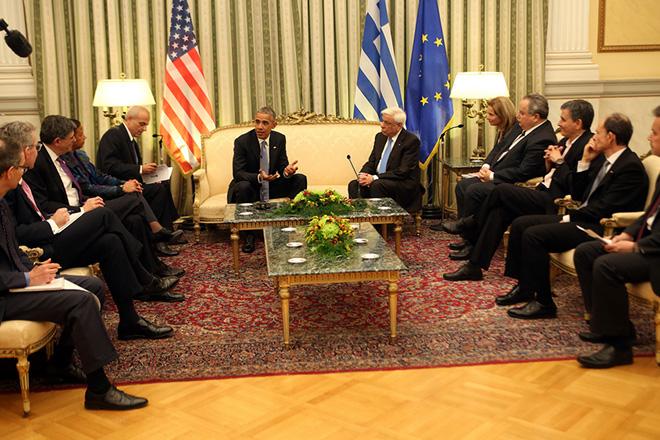 Το μήνυμα Παυλόπουλου στον Ομπάμα στο επίσημο γεύμα του Προεδρικού Μεγάρου