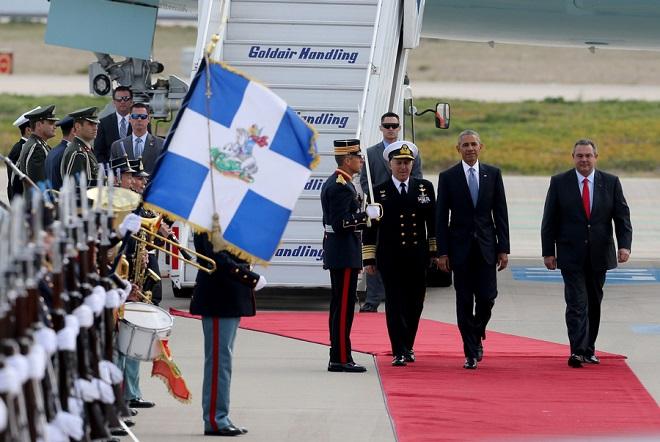 Στην Αθήνα έφτασε ο Μπαράκ Ομπάμα