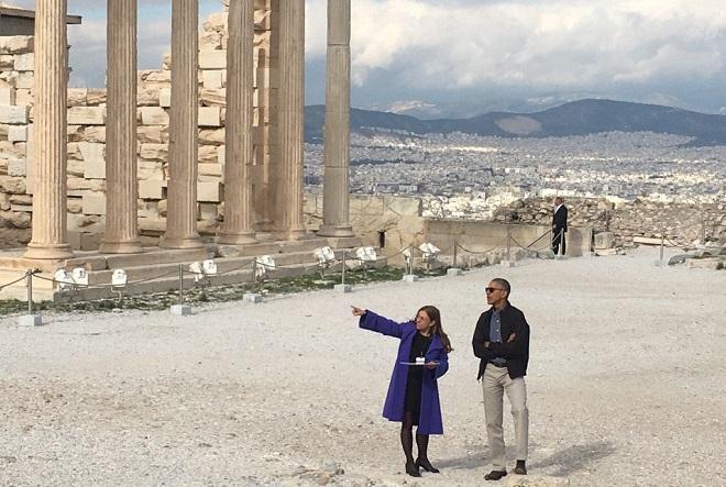 Επίσκεψη Ομπάμα: Στην Ακρόπολη ο Αμερικανός Πρόεδρος