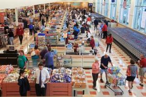 Jill Brady/Staff Photographer:  Market Basket opens its first store in Maine, in Biddeford, Sunday, August 18, 2013.