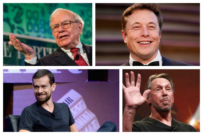 Τα πρώτα tweets διάσημων δισεκατομμυριούχων επιχειρηματιών