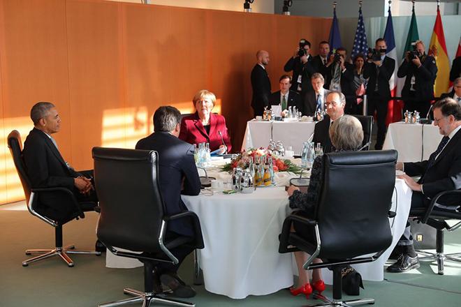 Σκληρή στάση κατά της Ρωσίας συμφώνησαν Ευρωπαίοι και Ομπάμα