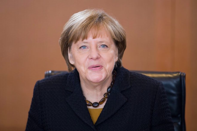epa05639477 (FILE) A file photo dated 06 January 2016 shows German Chancellor Angela Merkel as she opens the first cabinet meeting of the year at the chancellery in Berlin, Germany. Merkel, 62, on 20 November 2016 declared her intention to run for chancellor as well as to chair the Christian Democratic Party (CDU). Federal elections in Germany are to be held in fall 2017.  EPA/MICHAEL KAPPELER