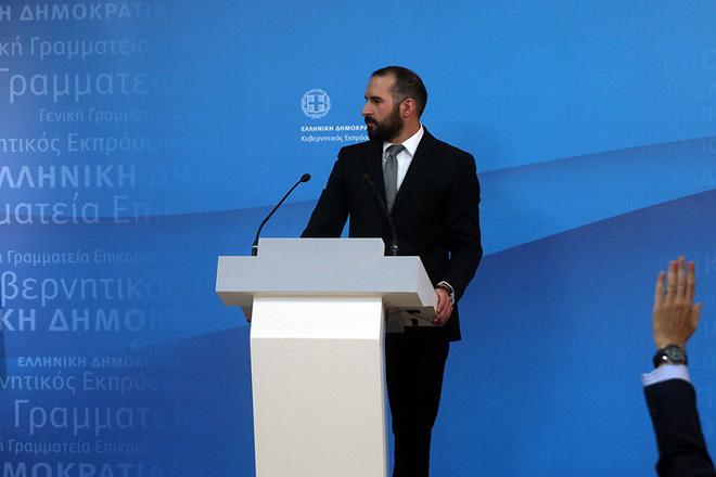 Ο νέος Υπουργός Επικρατείας και Κυβερνητικός Εκπρόσωπος, Δημήτρης Τζανακόπουλος ενημερώνει τους διαπιστευμένους πολιτικούς συντάκτες στην αίθουσα του briefing στην Γενική Γραμματεία Ενημέρωσης και Επικοινωνίας, Αθήνα Τρίτη 8 Νοεμβρίου 2016. ΑΠΕ-ΜΠΕ/ΑΠΕ-ΜΠΕ/ΟΡΕΣΤΗΣ ΠΑΝΑΓΙΩΤΟΥ