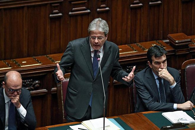 Ψήφο εμπιστοσύνης στην κυβέρνηση Τζεντιλόνι έδωσε η ιταλική βουλή