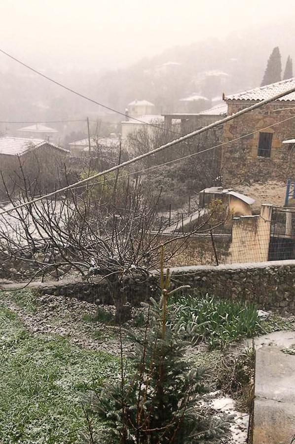 Τα πρώτα χιόνια άρχισαν να πέφτουν στην ορεινή Αργολίδα και στο χωριό  Καρυά έχει αρχίσει να το στρώνει. Τα πρώτα χιόνια έπεσαν και στο βουνό Αραχναίο καθώς και στην περιοχή της Τραχειάς Επιδαύρου. Επιδείνωση θα παρουσίασει ο καιρός από τα βόρεια με κύρια χαρακτηριστικά τις χιονοπτώσεις σε ορεινές-ημιορεινές περιοχές και βαθμιαία σε πεδινές περιοχές κυρίως της κεντρικής και βόρειας χώρας. Σποραδικές καταιγίδες στην ανατολική νησιωτική χώρα, άνεμοι έως 9 μποφόρ. . ΑΠΕ-ΜΠΕ /ΑΠΕ-ΜΠΕ/ΜΠΟΥΓΙΩΤΗΣ ΕΥΑΓΓΕΛΟΣ