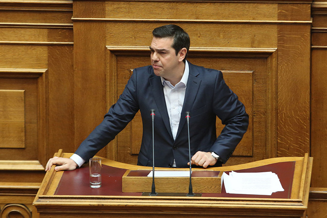 Ο πρωθυπουργός Αλέξης Τσίπρας κατά την ομιλία του στην προ ημερησίας διάταξης συζήτηση στη Βουλή σχετικά με θέματα του υπουργείου Αγροτικής Ανάπτυξης, Τετάρτη 18 Ιανουαρίου 2017. ΑΠΕ-ΜΠΕ/ΑΠΕ-ΜΠΕ/Αλέξανδρος Μπελτές