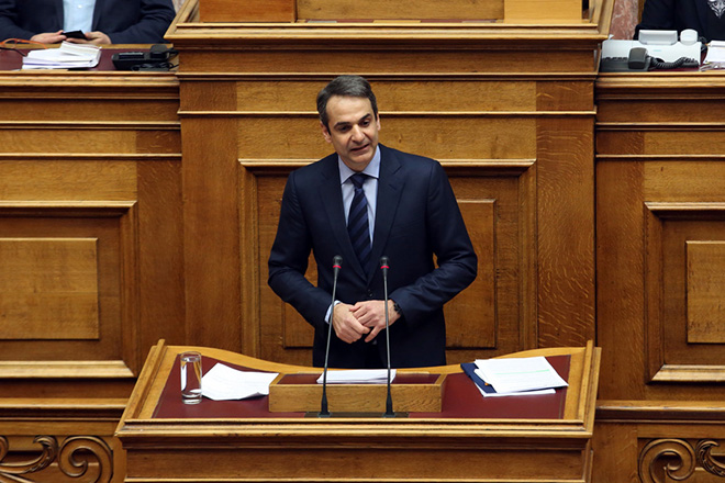 Ο πρόεδρος της ΝΔ Κυριάκος Μητσοτάκης  μιλάει στην   προ ημερησίας διάταξης συζήτηση στη Βουλή σχετικά με θέματα του υπουργείου Αγροτικής Ανάπτυξης, Τετάρτη 18 Ιανουαρίου 2017. ΑΠΕ-ΜΠΕ/ΑΠΕ-ΜΠΕ/Αλέξανδρος Μπελτές