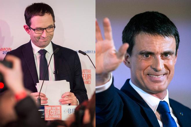 Αμόν και Βαλς στον δεύτερο γύρο των Σοσιαλιστών για τις εκλογές στη Γαλλία