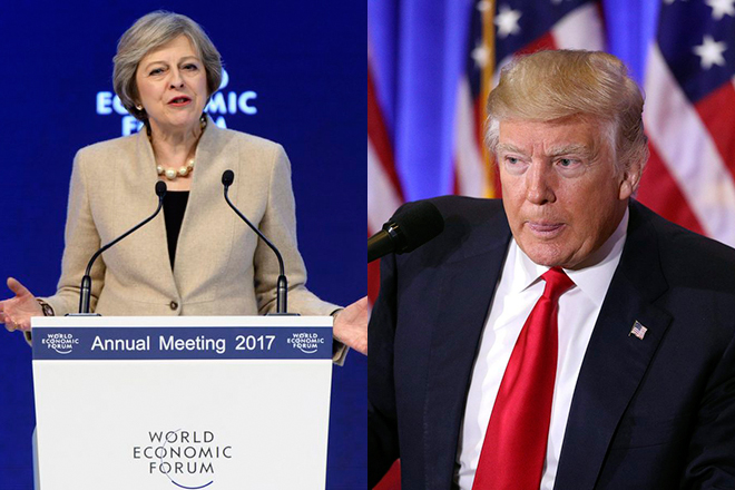 Τι θα πουν στο πρώτο τους τετ α τετ ο Ντόναλντ Τραμπ και η Τερέζα Μέι