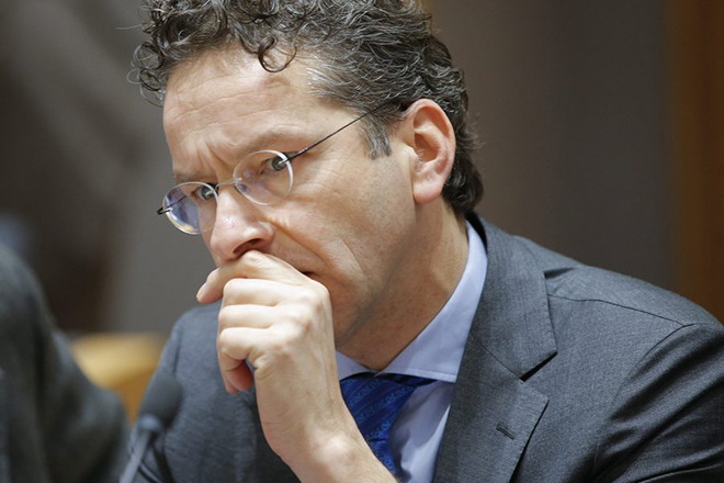 epa05752419 President of Eurogroup, Dutch Finance Minister Jeroen Dijsselbloem during the Eurogroup Finance Ministers meeting in Brussels, Belgium, 26 January 2017.  EPA/OLIVIER HOSLET