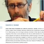 3. D.E. SHAW - DAVID SHAW