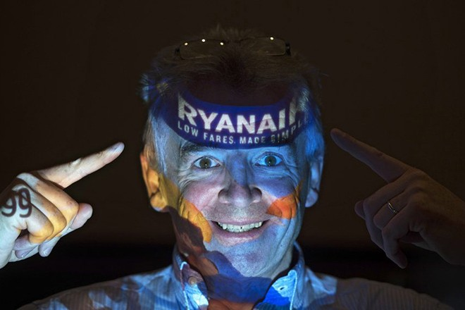 epa05516595 CEO of Irish discount airline company Ryanair, Michael O'Leary poses for a photograph after speaking at a press conference in London, Britain, 31 August 2016. Ryanair have launched their London summer 2017 schedule, with 2 new routes to Strasburg and Faro, and more flights to Sofia and Nuremburg, which will deliver 23.6m customers per annum and support 18,000 jobs at London Stansted, London Gatwick and London Luton airports.  EPA/HANNAH MCKAY