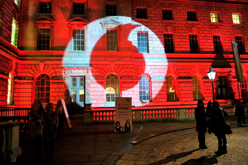 LONDON, ENGLAND - FEBRUARY 23:  A general view of the launch of Vodafone London Fashion Weekend at Somerset house on February 23, 2012 in London, England.  (Photo by Gareth Cattermole/Getty Images For Vodafone)