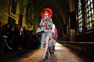epa05601719 YEARENDER 2016 JUNE A model presents a creation by Gucci during a fashion show at Westminster Abbey in London, Britain, 02 June 2016. Italian fashion house Gucci presented its pre-Spring/Summer 2017 collection at the cathedral.  EPA/ANDY RAIN