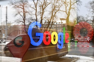 epa05724618 The Google logo on the newly opened Google Office in the Sihlpost Building in Zurich, Switzerland 17 January 2017. Google opened its new offices in Zuerich Sihlpost, together with the rooms in the new SBB-Europaallee the whole working area will be 50'000 square meters. Up to 5000 employees will be able to work in the new Google offices.  EPA/WALTER BIERI