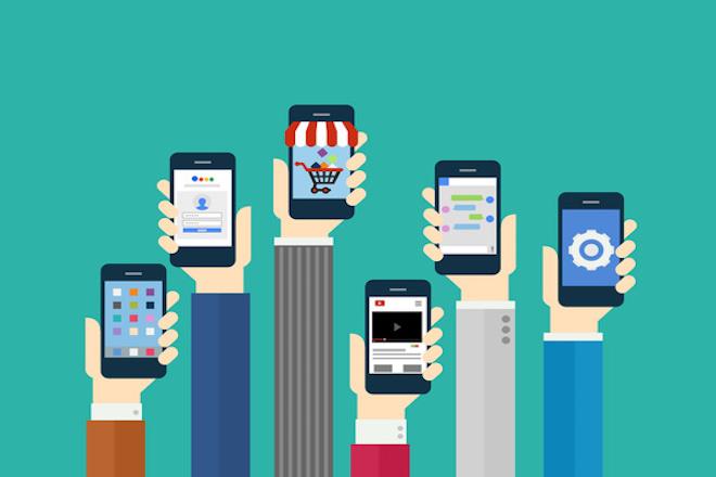 Mobile Application Concept - Flat Design