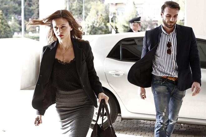 Η υπουργός Εργασίας Κοινωνικής Ασφάλισης και Κοινωνικής Αλληλεγγύης Έφη Αχτσιόγλου (Α) προσέρχεται για την συνάντησή της με τους εκπροσώπους των θεσμών, Αθήνα Τετάρτη 8 Μαρτίου 2017. ΑΠΕ-ΜΠΕ/ΑΠΕ-ΜΠΕ/ΓΙΑΝΝΗΣ ΚΟΛΕΣΙΔΗΣ