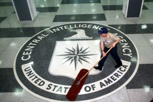 epa05834710 (FILE) - A worker at the CIA sweeping the foyer clean at the CIA Headquarters, Langley, Virginia, USA, 03 March 2005 (reissued 07 March 2017). According to whistleblower website WikiLeaks on 07 March 2017, the organization has published documents codenamed 'Vault 7', allegedly originating from CIA's Center for Cyber Intelligence. Based on the documents, Wikileaks claims that the CIA hackers were able to hack into iPhones, Android phones and smart TV sets.  EPA/DENNIS BRACK / POOL