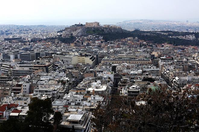 Ο λόφος της Ακρόπολης όπως φαίνεται από το Λυκαβηττό, Αθήνα, την Πέμπτη 16 Μαρτίου 2017. ΑΠΕ-ΜΠΕ/ΑΠΕ-ΜΠΕ/ΣΥΜΕΛΑ ΠΑΝΤΖΑΡΤΖΗ