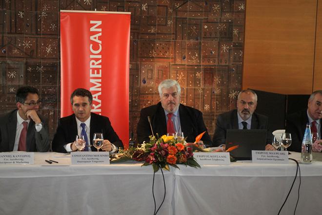 Ο δνων σύμβουλος της Interamerican  Γιώργος Κώτσαλος (K)  στη συνέντευξη τύπου της  INTERAMERICAN, κατά την οποία παρουσιάστηκαν τα οικονομικά αποτελέσματα του 2012, ο επιχειρησιακός σχεδιασμός για το 2013 και οι προοπτικές,  Τρίτη 5 Μαρτίου 2013. ΑΠΕ - ΜΠΕ/ΑΠΕ - ΜΠΕ/Αλέξανδρος Μπελτές