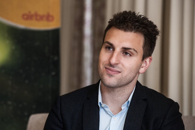Brian Chesky, chief executive officer of Airbnb Inc., pauses during an interview at a media event in Johannesburg, South Africa, on Monday, July 27, 2015. Airbnb is hoping to spread its unique brand of hospitality throughout Africa. Photographer: Waldo Swiegers/Bloomberg via Getty Images