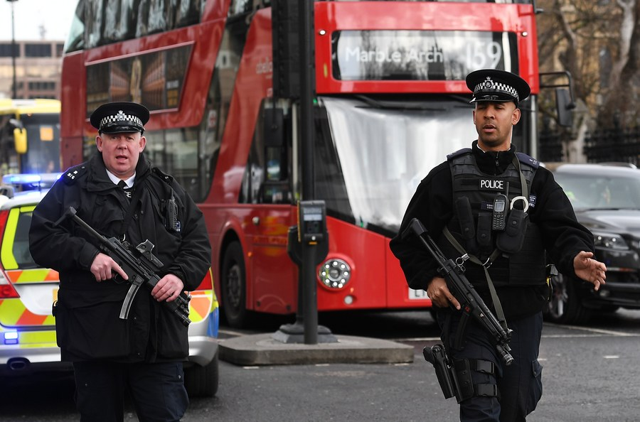 Firearms incident in the Westminister palace grounds and on Westminster Bridge
