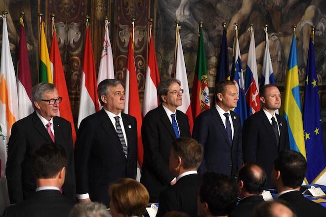 Οι ηγέτες τις ΕΕ υπέγραψαν τη Συνθήκη της Ρώμης