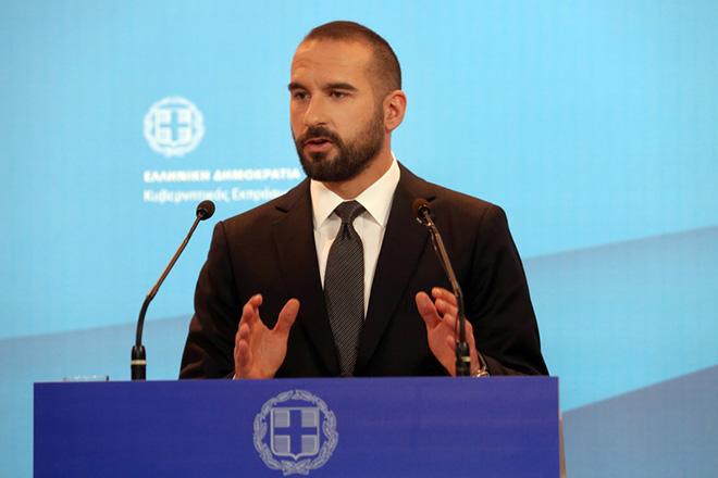 Ο υπουργός Επικρατείας και Κυβερνητικός Εκπρόσωπος  Δημήτρης Τζανακόπουλος στη σημερινή τακτική ενήμέρωση των πολιτικών συντακτών στην Γενική Γραμματεία Ενημέρωσης, Πέμτπη 9 Μαρτίου 2017. ΑΠΕ - ΜΠΕ/ΑΠΕ - ΜΠΕ/Αλέξανδρος Μπελτές