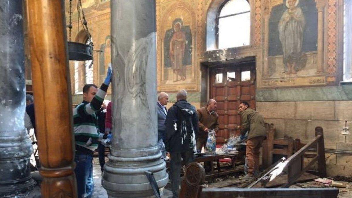 Βομβιστική επίθεση σε χριστιανική εκκλησία της Αιγύπτου/ Photo AP