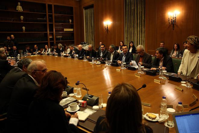 Ο πρωθυπουργός Αλέξης Τσίπρας προεδρεύει στη συνεδρίαση του υπουργικού συμβουλίου, Αθήνα Μεγάλη Πέμπτη 13 Απριλίου 2017. ΑΠΕ-ΜΠΕ/ΑΠΕ-ΜΠΕ/ΟΡΕΣΤΗΣ ΠΑΝΑΓΙΩΤΟΥ