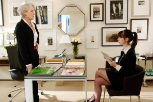 Fashion magazine editor Miranda Priestly (Meryl Streep) is the ultimate in demanding bosses, as Andy Sachs (Anne Hathaway) quickly discovers. PHOTOGRAPHS TO BE USED SOLELY FOR ADVERTISING, PROMOTION, PUBLICITY OR REVIEWS OF THIS SPECIFIC MOTION PICTURE AND TO REMAIN THE PROPERTY OF THE STUDIO. NOT FOR SALE OR REDISTRIBUTION.