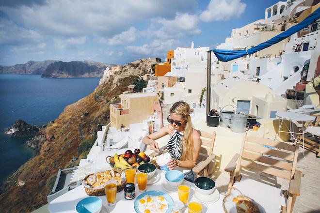tourism, santorini