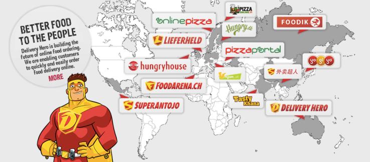 Μερικές απ' τις εταιρείες που έχει εξαγοράσει το Delivery Hero