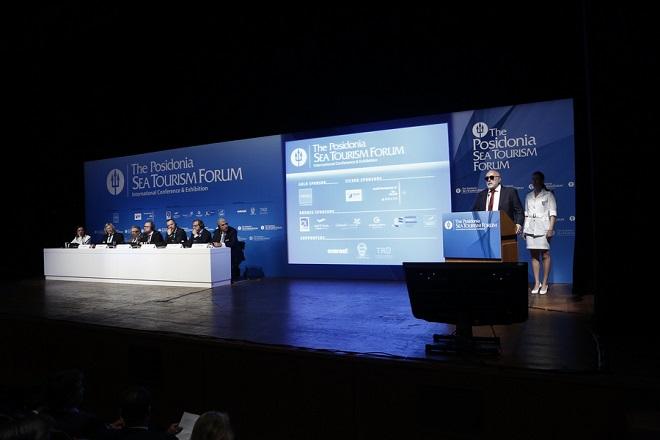 Ο υπουργός Ναυτιλίας και Νησιωτικής Πολιτικής Παναγιώτης Κουρουμπλής (2ος Δ) μιλάει στο διεθνές συνέδριο Pisidonia Sea Tourism Forum, στο Μέγαρο Μουσικής, Αθήνα Τρίτη 23 Μαΐου 2017. ΑΠΕ-ΜΠΕ/ΑΠΕ-ΜΠΕ/ΓΙΑΝΝΗΣ ΚΟΛΕΣΙΔΗΣ