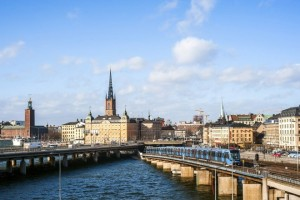 10 Mar 2015 --- Riddarholmenm, Gamla Stan, and Kungsholmen in Stockholm. --- Image by © Lola Akinmade Akerstrom/National Geographic Creative/Corbis