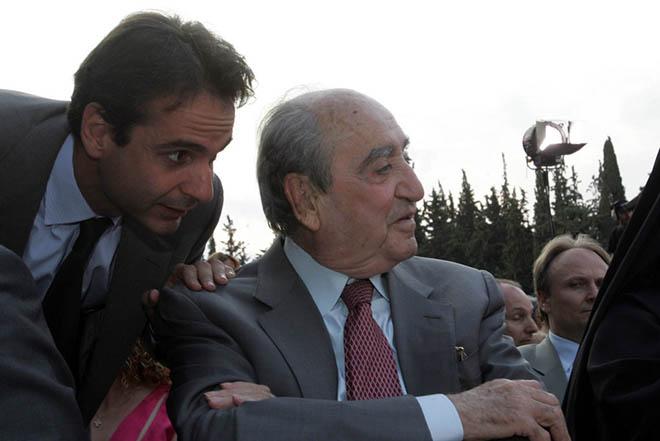 Το αντίο του Κυριάκου στον πατέρα του, Κωνσταντίνο Μητσοτάκη