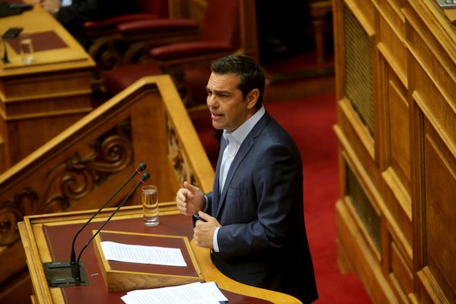 Ο πρωθυπουργός Αλέξης Τσίπρας  μιλά  σε ειδική συνεδρίαση της Ολομέλειας της Βουλής για τον Κωνσταντίνο Μητσοτάκη, Τετάρτη 7 Ιουνίου 2017. Η Βουλή των Ελλήνων τίμησε τη μνήμη του πρώην Πρωθυπουργού και Επίτιμου Προέδρου της Νέας Δημοκρατίας Κωνσταντίνου Μητσοτάκη, σε ειδική συνεδρίαση της Ολομέλειας  ΑΠΕ-ΜΠΕ/ΑΠΕ-ΜΠΕ/Παντελής Σαίτας