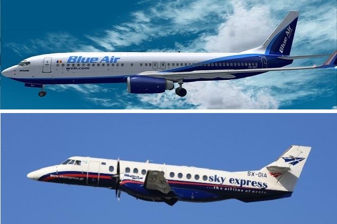 Νέα συνεργασία Blue Air και Sky Express με φόντο τα ελληνικά νησιά