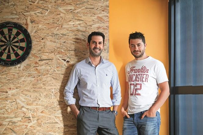 Οι ιδρυτές της εταιρείας, Γιάννης Ψαρράς και Παναγιώτης Μελισσαρόπουλος.