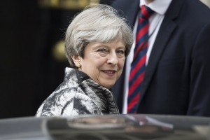 epa06024737 British Prime Minister Theresa May leaves Downing Street on the way to a meeting of the Conservative Party's 1922 Committee, in Central London, Britain, 12 June 2017. The 1922 Committee is made up of backbench Conservative Members of Parliament and are expected to discuss the Conservative Party's performance in the general election called by Prime Minister May.  EPA/WILL OLIVER