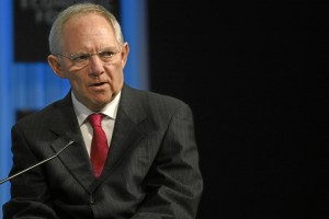 DAVOS/SWITZERLAND, 29JAN11 - Wolfgang Schaeuble, Federal Minister of Finance of Germany, is captured during the session 'The Global Economic Outlook' at the Annual Meeting 2011 of the World Economic Forum in Davos, Switzerland, January 29, 2011.  Copyright by World Economic Forum swiss-image.ch/Photo by Jolanda Flubacher