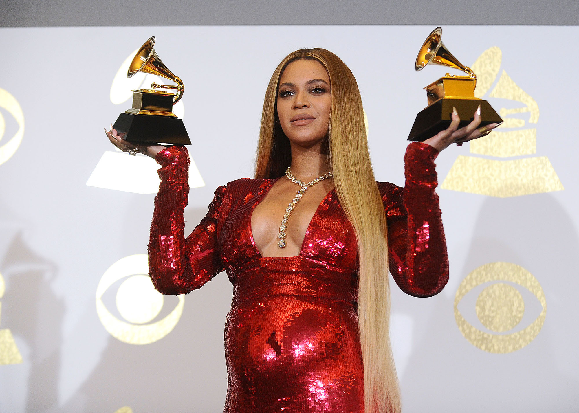 LOS ANGELES, CA - FEBRUARY 12:  Beyonce poses in the press room at the 59th GRAMMY Awards at Staples Center on February 12, 2017 in Los Angeles, California.  (Photo by Jason LaVeris/FilmMagic)